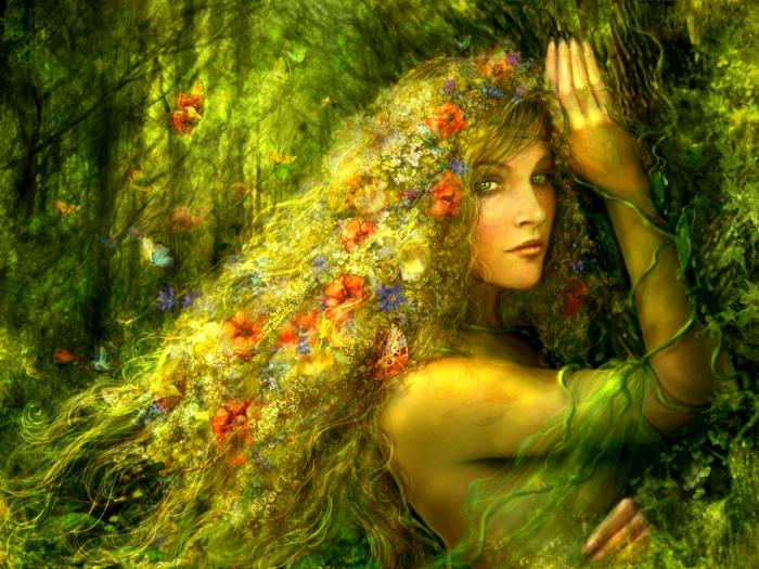 green-forest-girl-grass-hair-fantasy-wallpaper